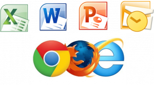 word excel power point outlook internet